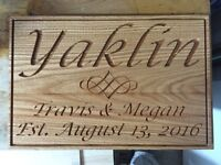 Custom home or cottage CNC cut signs