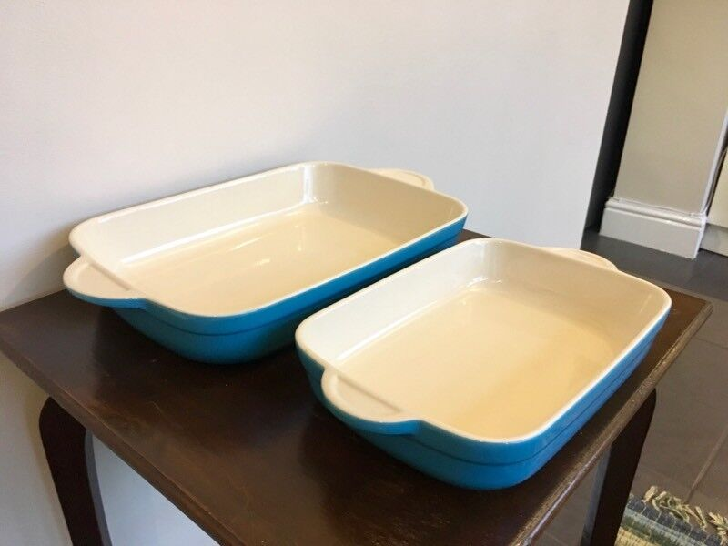 Denby blue ceramic oven dish set
