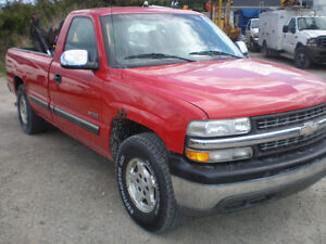 2001 Chevrolet 1500 Pickup Truck, 4x4, with Snow Plow and Salter