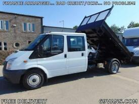 2008 FORD TRANSIT 6 SEAT CREW CAB TIPPER, 1 COUNCIL OWNER, TOW BAR, COMPRESSOR