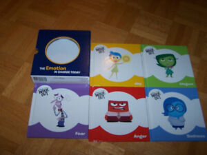 Disney - INSIDE OUT - MIXED EMOTIONS - 5 hardcovers - kids bk