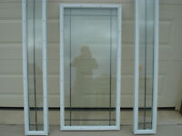 As New Window Door Glass Insert with 2 Glass Side Lites