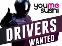 Motorbike delivery drivers - part time £9/h