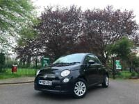2010 Black Fiat 500 1.2 Pop S/S Petrol Manual Auto Dualogic