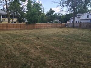 Huge clean lot fully fence available for rent