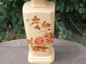 CERAMIC FLORAL TABLE LAMP  WITH  FLORAL  SHADE London Ontario image 2