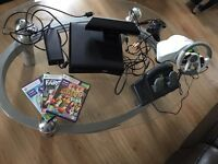 Xbox 360 Slim with games, controler, stearing, kinect, HDMI version