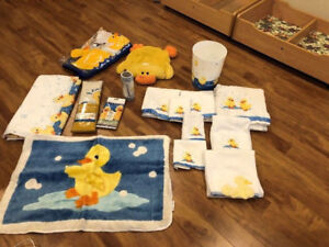 Ducky style bathroom decor. Some items are brand new.