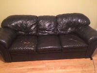 Memory Foam Leather Couch