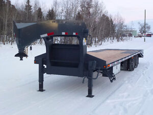 2016 Precision Trailer Gooseneck Flatdeck Beavertail