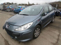 Peugeot 307 1.6 16v ( 110bhp ) S DAMAGED REPAIRABLE SALVAGE
