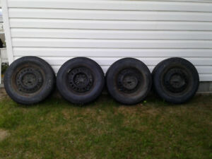 P20570R15 used tires with rims