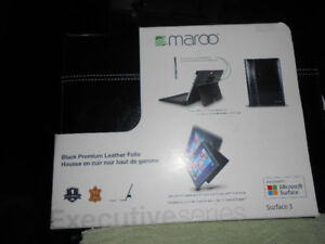 Maroo Black leather Folio for Microsoft Surface 3 - NEW