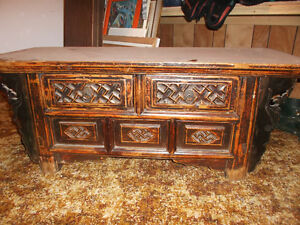 Antique Chinese bench table