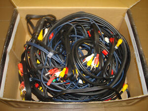 Various audio and video cables, RCA, HDMI