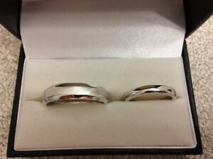His and hers wedding bands by James Bradshaw Goldsmith