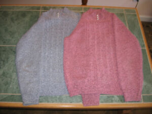 Ladies cable knit tops