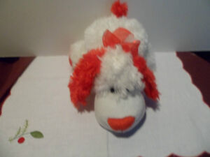 White & Red Dog Hand Puppet