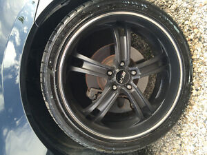 "20"" black msr rims"