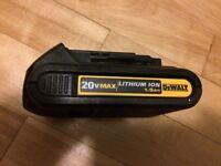 Dewalt batterie 20v battery lithium ion 1.5ah
