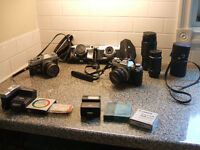 4 X 35MM CAMERAS WITH ASSESSORIES