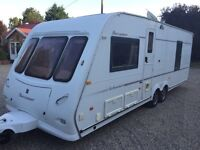 2004 BUCCANEER SCHOONER 4 BERTH TWIN AXLE FIXED BEDTOURING CARAVAN WITH AIR CONDITIONING ESSEX