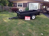 4x8 utility trailer solid steel $600 obo call 905-966-3756
