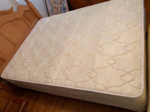 double bed with boxspring and frame