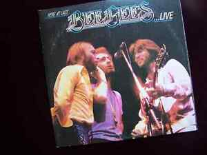 Bee Gees - 1 LP (live double) and 9 45 Vinyl records Cambridge Kitchener Area image 2