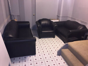 Black Leather Couches!