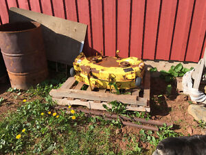 2 John deere 38 inch mower decks (for 111 )