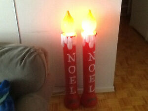 Christmas (NOEL) Candle Ornaments