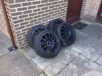 "17"" 4x108 alloys with excellent tyres, ford, Citroen, Peugeot"