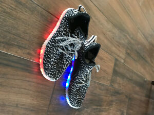 Light up shoes with USB charger