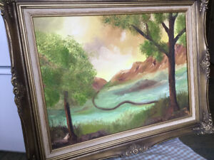 Early 1960's original Oil on Canvas Painting