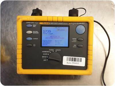 Fluke 1735 Three Phase Power Logger Analyst Analyzer With Bc1735eelv Charger