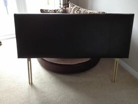 King size brown faux leather headboard