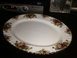 Old Country Rose Serving Platter