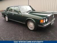 1987 E BENTLEY MULSANNE S 6.8 AUTO, BALMORAL GREEN WITH CREAM LEATHER!