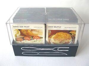 RARE MARGUERITE PATTEN RECIPE CARDS SET COMPLETE WITH FILE BOX