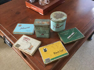 Collection of 6 antique tobacco tins