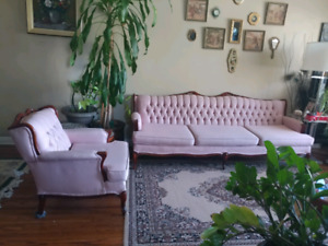 Antique Sofa and Arm Chair