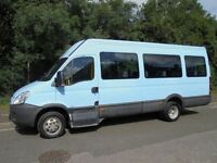 2007 07 IVECO-FORD DAILY 2.3 HPI 35C12 3500KG 17 SEATER LWB MINI BUS DIESEL