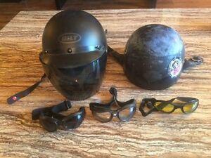 Motorcycle Helmet & Goggles