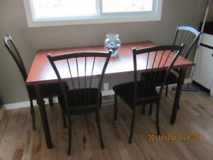 Amisco Table and Four Chairs