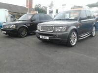 CHOICE OF TWO RANGE ROVER SPORTS TDV6 AND TDV8 BOTH IMMACULATE