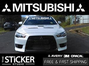 Mitsubishi Windshield #1 Logo sticker Lancer mirage outlander Evolution 7 8 9 x