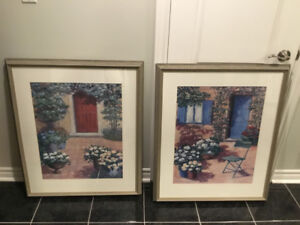 35 in h x 30 in w-x large grey wood framed prints*reduced*-