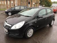 5808 Vauxhall Corsa 1.2i 16v Life Black 5 Door 60514mls MOT 12m