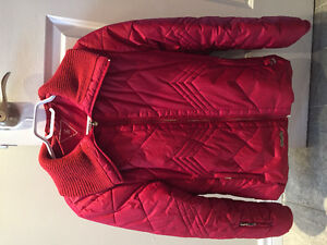 Manteau d'hiver rouge pour femme